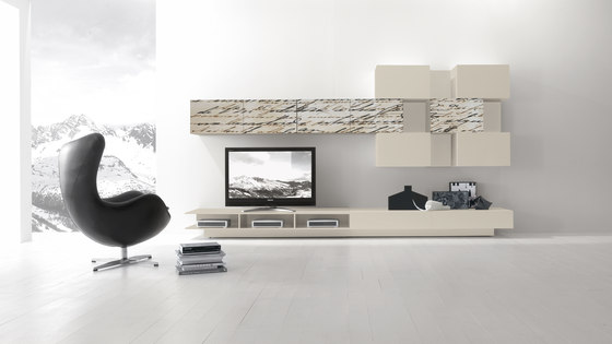 I-modulART Cover by Presotto | Wall storage systems