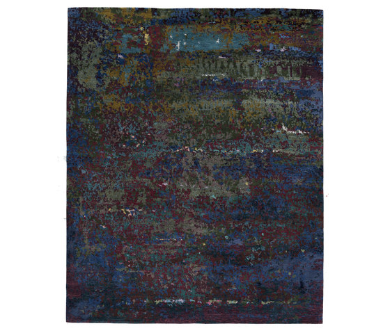 Texture - Canvas scarab blue by REUBER HENNING | Rugs