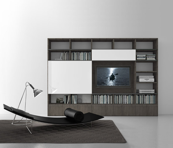 Pari & Dispari Sliding door arrangements by Presotto | AV cabinets