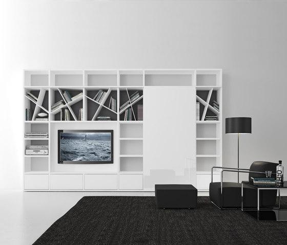 Pari & Dispari Sliding door arrangements by Presotto | Cabinets
