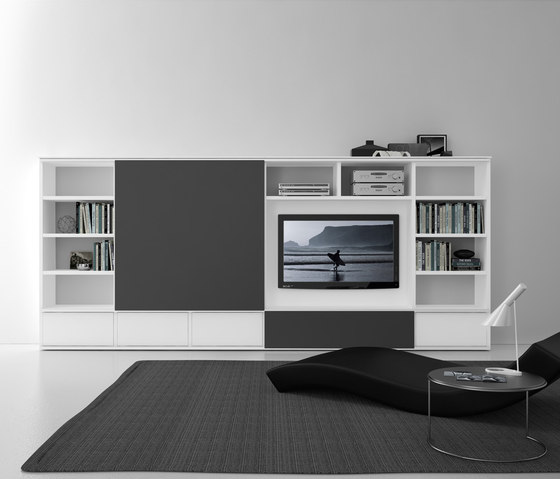 Pari & Dispari Sliding door arrangements by Presotto | AV cabinets
