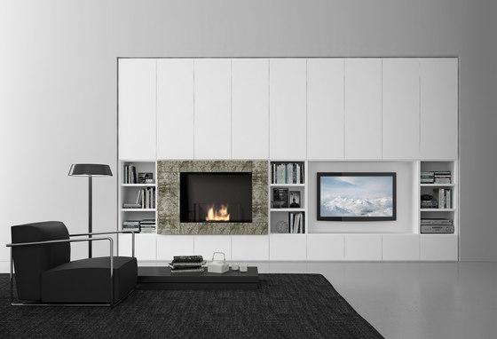 Pari & Dispari Arrangements with fireplaces by Presotto | Cabinets