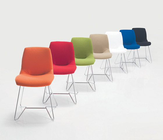 Kaleidos Tessuto by Caimi Brevetti | Visitors chairs / Side chairs