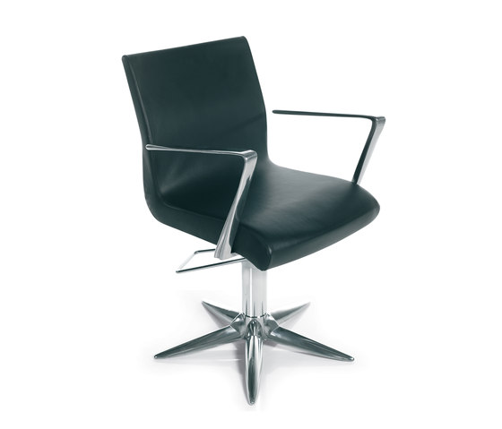 Aluotis Ecoblack Parrot | GAMMASTORE Styling salon chair by GAMMA & BROSS | Barber chairs