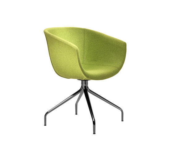 Derby | Swivel 4 leg spider base, upholstered de Segis | Sièges visiteurs / d'appoint