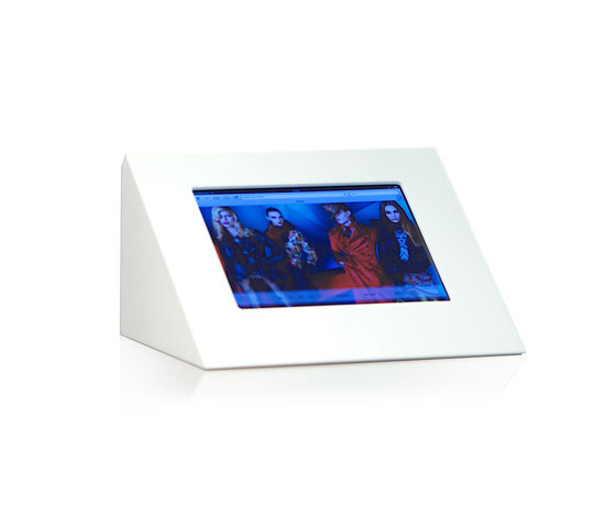 Impact iPad desk stand by GrapeDesign | Table integrated displays