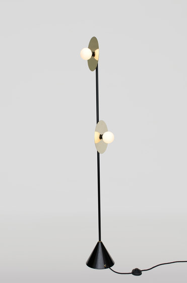 Disc and sphere floor lamp by atelier areti general lighting