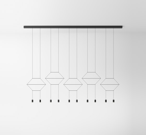 Wireflow Lineal 0330 Pendant lamp by Vibia | Suspended lights