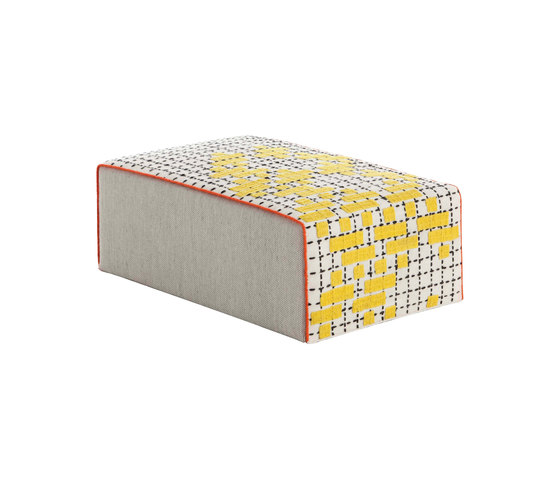 Bandas Big Pouf C Yellow 26 by GAN | Poufs