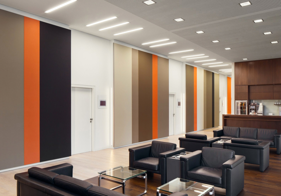 Soft Cells Broadline | Wall installation by Kvadrat Soft Cells | Sound absorbing wall systems