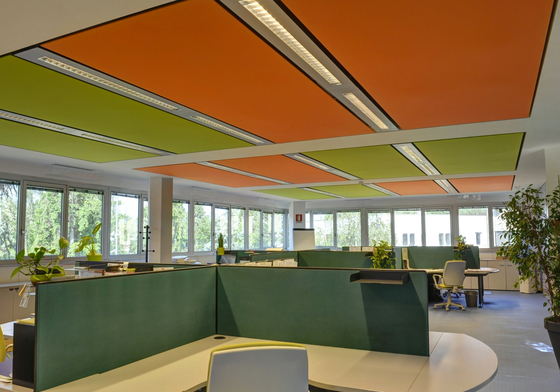 Soft Cells Broadline | Ceiling installation de Kvadrat Soft Cells | Techos luminosos