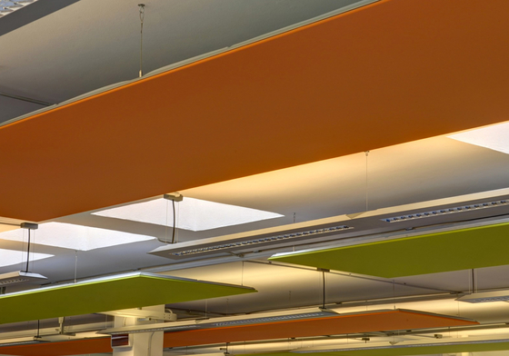 Soft Cells Broadline | Ceiling installation by Kvadrat Soft Cells | Complete systems
