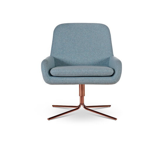Coco Swivel Copper by Softline A/S | Lounge chairs