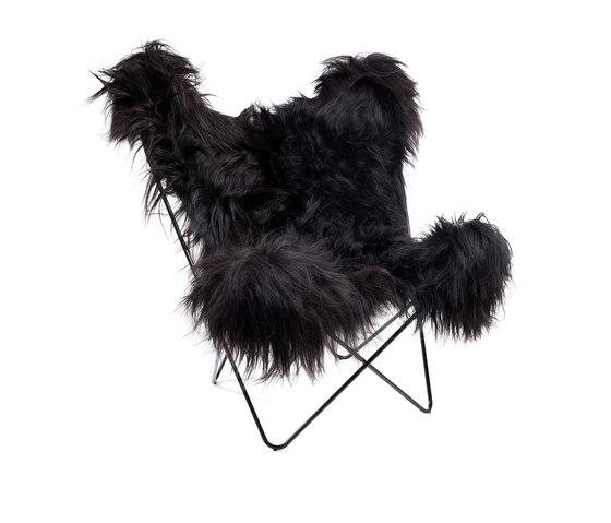 Hardoy Butterfly Chair Nordland Schwarz 120 mm von Manufakturplus | Loungesessel