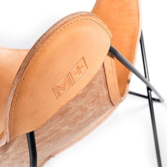 Hardoy Butterfly Chair Sattel-Leder Natur by Manufakturplus | Lounge chairs