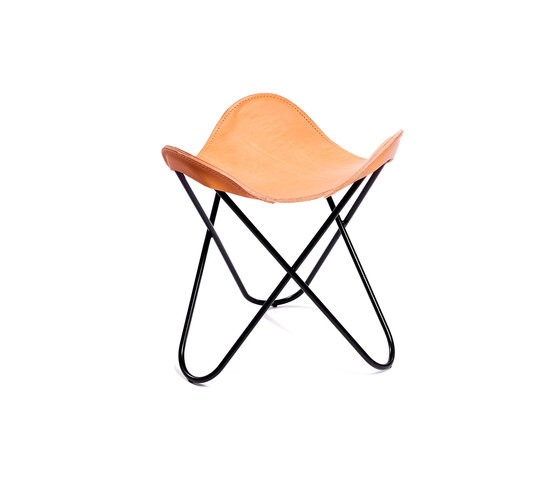 Hocker Sattel-Leder Natur by Manufakturplus | Stools