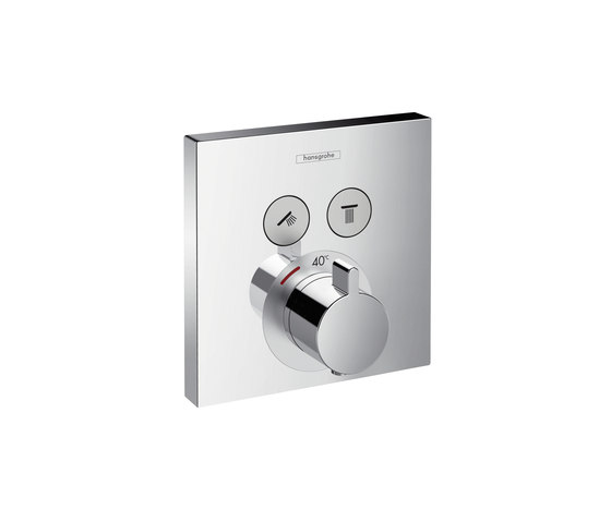 Hansgrohe ShowerSelect thermostatic mixer for concealed installation for 2 functions by Hansgrohe | Shower taps / mixers