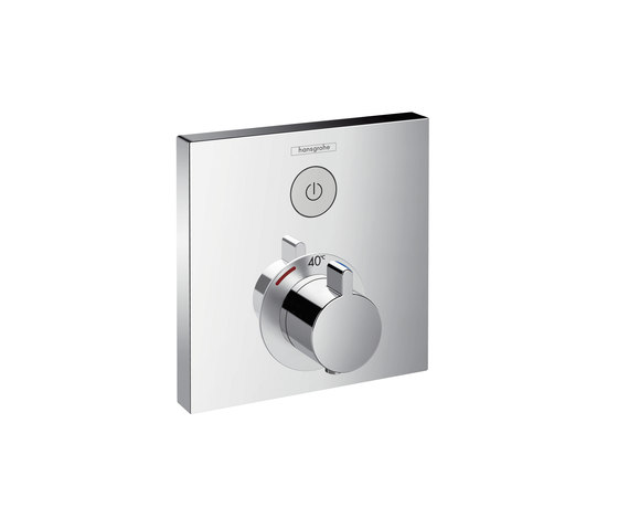 Hansgrohe ShowerSelect thermostatic mixer for concealed installation for 1 function by Hansgrohe | Shower taps / mixers