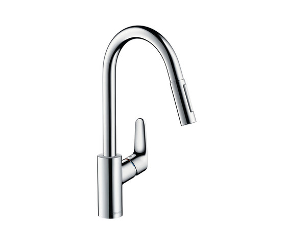 hansgrohe Focus Single lever kitchen mixer with pull-out spray by Hansgrohe | Kitchen taps