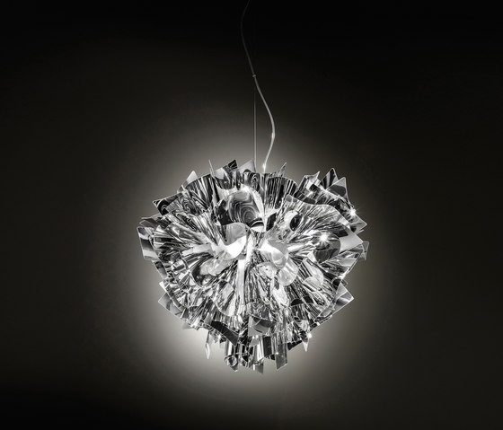 Veli Silver suspension large by Slamp | General lighting