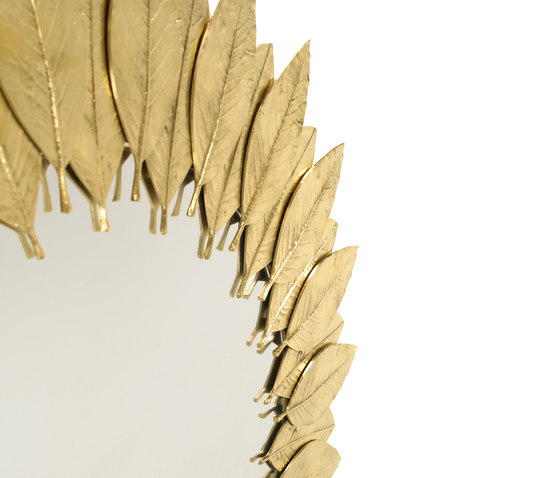 Leaf | Round Mirror by GINGER&JAGGER | Mirrors