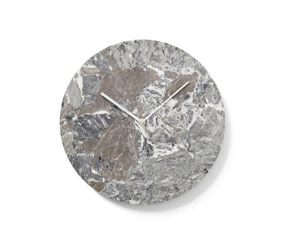Marble Wall Clock, Grey by MENU | Clocks