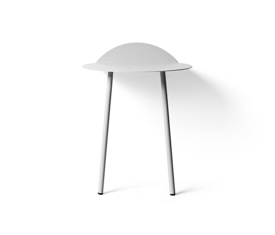 Yeh Wall Table, Low, Light Grey by MENU | Night stands