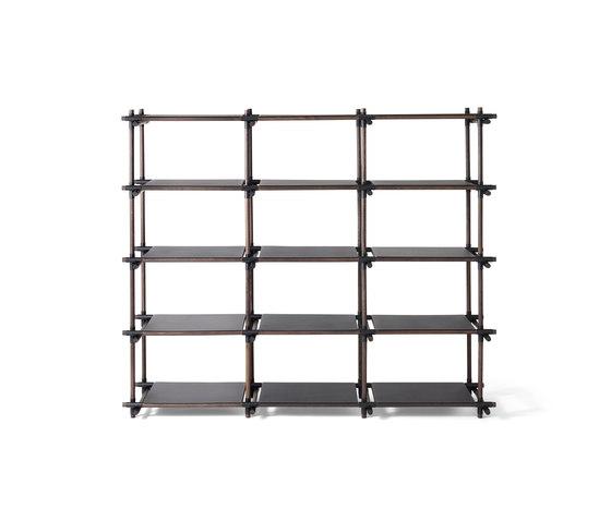 Stick System, 3x5, Black/Dark Ash by MENU | Office shelving systems