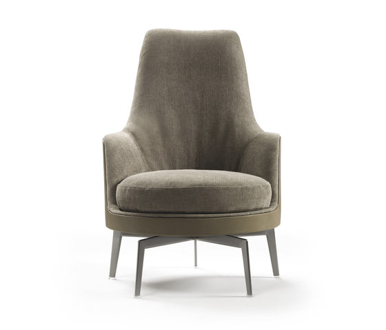 Guscioalto Soft Armchair by Flexform | Lounge chairs