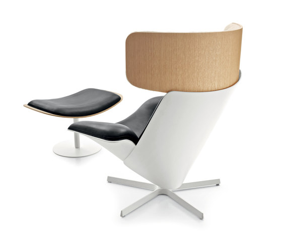 Almora with footstool by B&B Italia | Lounge chairs