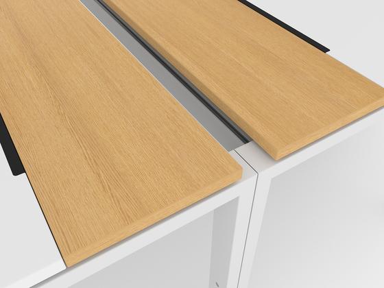 D1 Four-leg table di Denz | Scrivanie individuali
