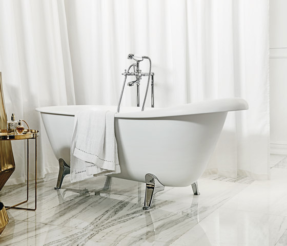 Agora free standing bath-shower mixer by Zucchetti | Bath taps