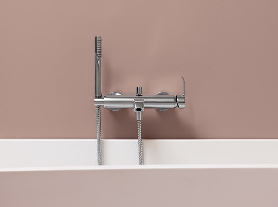 ON single lever exposed bath-shower mixer von Zucchetti | Duscharmaturen