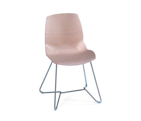 Kaleidos Wood by Caimi Brevetti | Visitors chairs / Side chairs