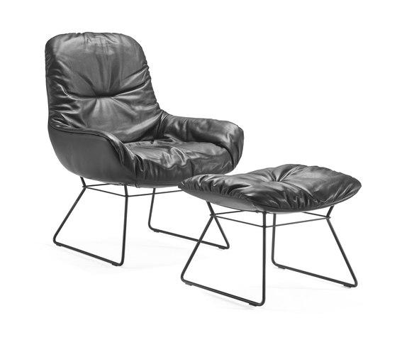Leya Lounge Ottomane by Freifrau Sitzmöbelmanufaktur | Lounge chairs