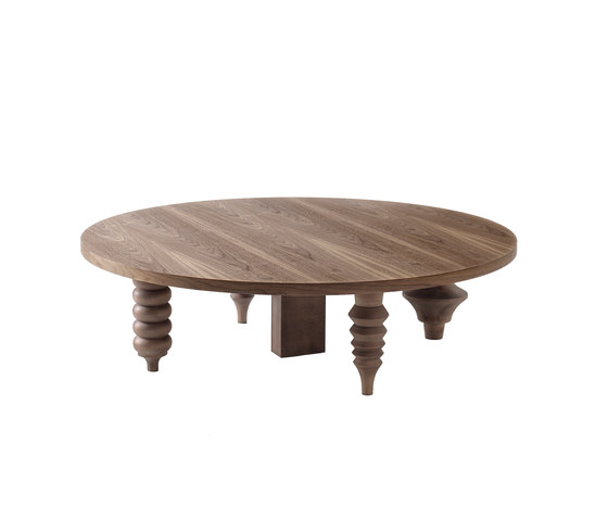 Showtime Multileg Low Table Wood by BD Barcelona | Lounge tables