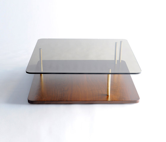 Points of Interest Coffee Table, Wood Base by Phase Design | Lounge tables