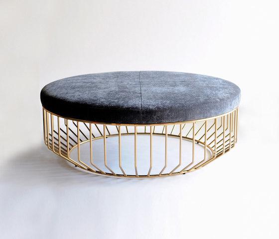 Wired Ottoman de Phase Design | Pufs