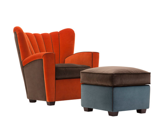 Zarina Armchair and pouf by adele-c | Armchairs