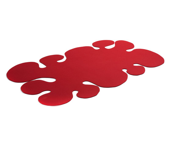 Roter Klecks von fräch | Formatteppiche