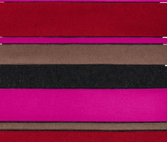 Bunter Steg rot von fräch | Formatteppiche