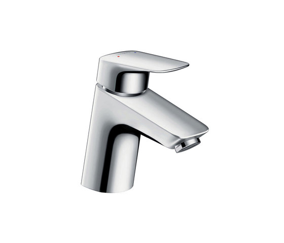 hansgrohe Logis Single lever basin mixer 70 with push-open waste set for vented hot water cylinders by Hansgrohe   Wash basin taps