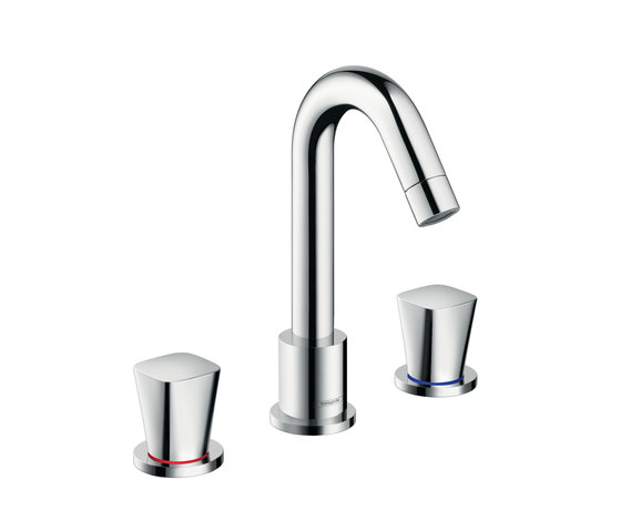 Hansgrohe Logis 3-hole basin mixer with pop-up waste set by Hansgrohe   Wash-basin taps