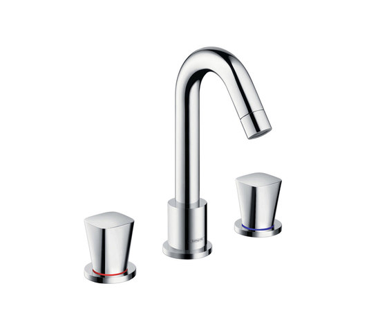hansgrohe Logis 3-hole basin mixer with pop-up waste set by Hansgrohe | Wash basin taps