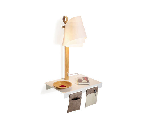 FLÄKS | Shelf with built-in lamp by Domus | Lighting objects