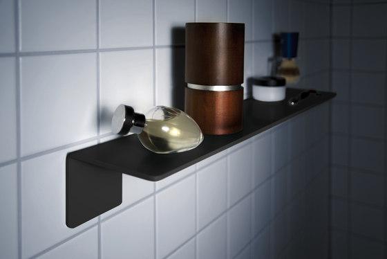 radius puro bathroom shelf by Radius Design | Bath shelving