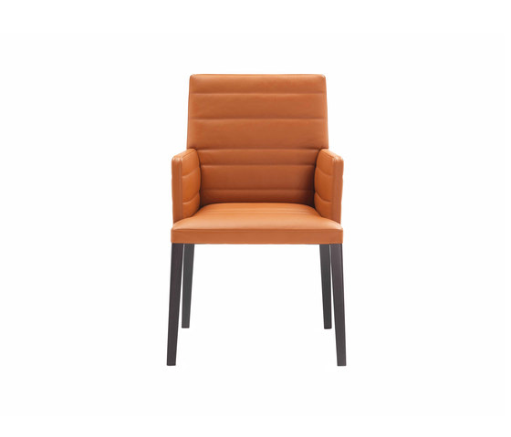 Louise Chair with armrest by Poltrona Frau | Visitors chairs / Side chairs