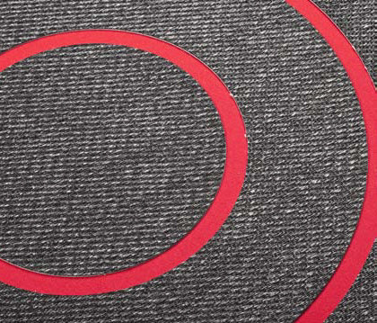 Pléyades | Sisal Plain Black / Mackey 2 by WOOP RUGS | Rugs / Designer rugs