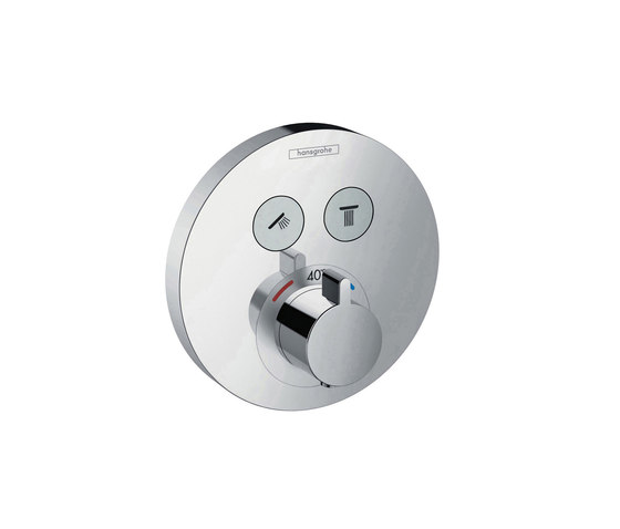 hansgrohe ShowerSelect S Thermostatic mixer for concealed installation for 2 functions by Hansgrohe | Shower taps / mixers