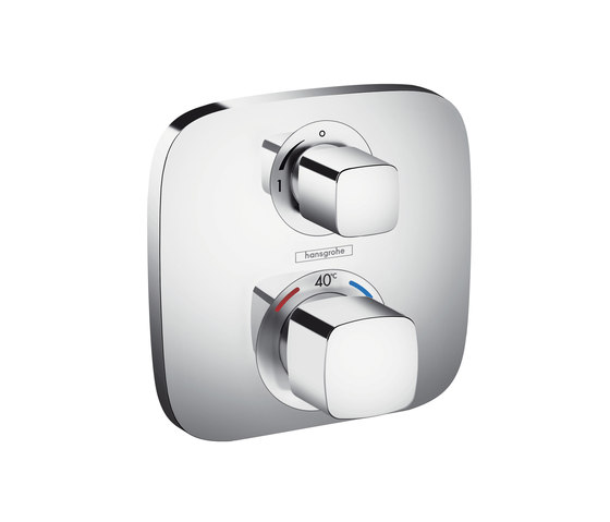 Hansgrohe Ecostat E thermostatic mixer for concealed installation for 1 function by Hansgrohe | Shower taps / mixers